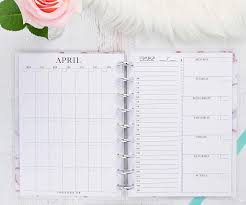 Monthly Weekly Daily Planner Amazon Com Monthly Weekly Daily Planner Inserts Set