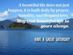Beautiful Life Quotes Adorable Saturday Quotes A Beautiful Life Does Not Just Happen It Is Built