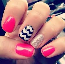 Pin by Effie Bradley on Nailed It! | Chevron nails, Nails, Pretty nails