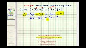 ex solve an equation with variables and paheses on both sides