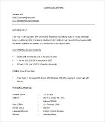 Free Curriculum Vitae Template Inspiration Download A Sample Resume BPO Template 48 Free Samples Examples