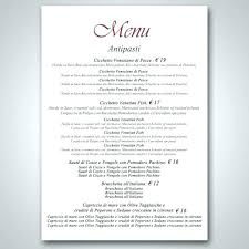 New Catering Menu Excel Format Template Download Free Sample