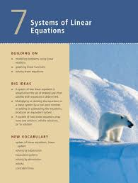 systems of linear equations bigengine