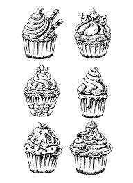 Small Picture Cup Cakes Coloring pages for adults coloring page six good