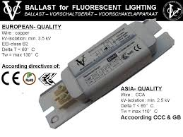 Ballast Replacement Chart Voc Magnetic Ballast For Fluorescent Lamps Buy Ballast Product On Alibaba Com