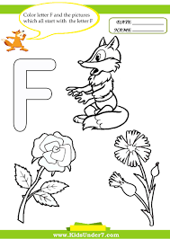 letter f color pages kids under 7 letter f worksheets and coloring pages
