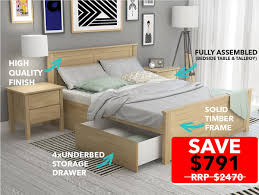 Modern Bedroom Furniture Melbourne Dandenong Bedroom Suites King Size Storage B2c Furniture