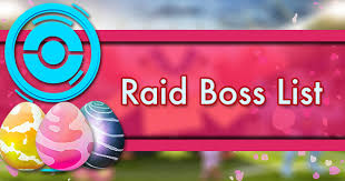 Raid Boss List Pokemon Go Wiki Gamepress
