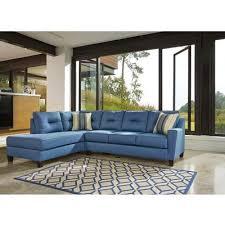 blue sleeper sectional.  Sleeper Benchcraft Kirwin Nuvella 99603 2 Pc Sectional On Blue Sleeper E