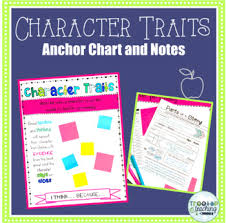 Anchor Chart Paper Character Traits Anchor Chart And Notes By Treetop Teaching