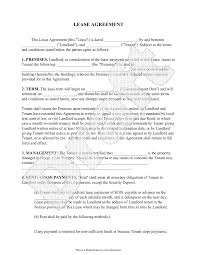 Lease Agreement - Free Rental Agreement Form, Application, Contract ...