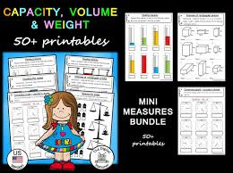 Us Volume Conversion Chart Capacity Volume And Weight Us Version 50 Printables