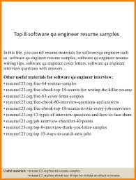 software qa resume   thevictorianparlor co