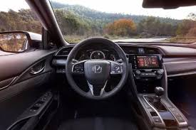 the 2017 honda civic interior features an uncluttered layout and some new technologies