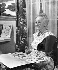 photo portrait of american artist anna mary robertson moses better known as grandma moses