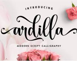 font bundle handwritten fonts modern calligraphy font brush