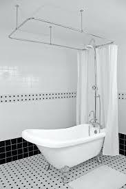 alternative viewsshort shower curtain liner clawfoot tub short