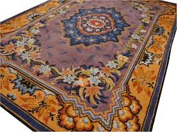 French Design Rugs Art Nouveau Hand Knotted Western European French Design Wool Rug