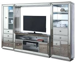 silver tv stand silver stand clear glass and