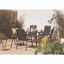 garden table and chairs for sale in leeds. palma seven piece dining set - black garden table and chairs for sale in leeds t