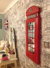 London Wallpaper Bedroom London Themed Room Homesick For London Pinterest London