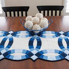 Classic Double Wedding Ring Table Runner Pattern (PQ10410)