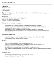 Front Desk Resume Objective Examples 0 Magnolian Pc