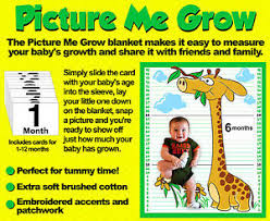 Details About Kazoodle Kids Baby Blanket Picture Me Grow Measuring Size Growth Chart Blanket