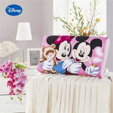 Roze Mickey Minnie Mouse Memory Kussens Beddengoed Trage Rebound