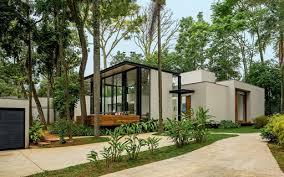De eliane lorenção no pinterest. Integrada A Natureza Casa De 400 M Parece Flutuar Casa E Jardim Arquitetura