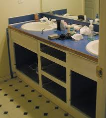 Decoration Ideas: Wonderful White Wooden Bath Vanity Cabinet ...
