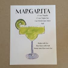 Cocktail Wall Print Tequila Lover Margarita Wall Art Bar   Tequila gift,  Margarita, Tequila gifts basket