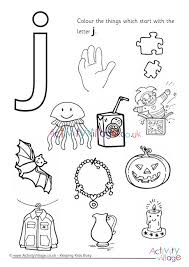 Coloring the alphabet is a good way to introduce the youngest learners to letters of the alphabet through an. Start With The Letter J Colouring Page