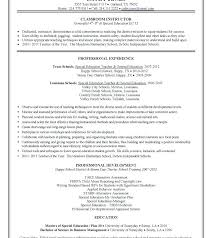 Elementary Education Resume Examples – Andaleco