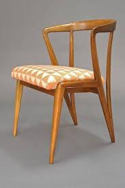 bertha schaeffer walnut dining chair for singer sons 1950s