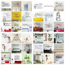Wall Stickers <b>Removable</b> Art PVC DIY Wall Decal Mural Home Office ...
