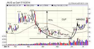 High Tight Flag Chart Pattern Chart Lesson Cup And Handle Vs High Tight Flag