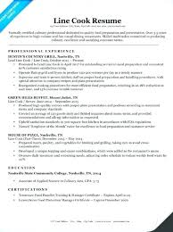 Sous Chef Resume Sample