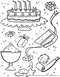 Small Picture Birthday Coloring Pages Free Birthday Party images Coloring