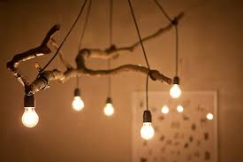 natural tree branch and string light chandelier pendant lighting wood lamps amazing wooden chandelier