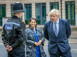 PM contradicts Priti Patel by telling public not to snitch on neighbours |  Express & Star