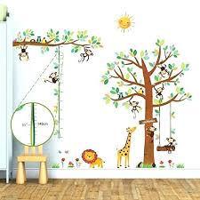 Wall Decal Size Chart Monkey Tree Wall Decals For Nursery Animal Owls Stickers