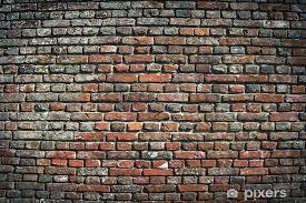 old brick wall urban background sticker