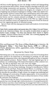 new and improved the story of mass marketing in america bytedlow new and improved the story of mass marketing in america bytedlow richard s acircmiddot new york basic books 1990 xi 481 pp charts illustrations tables