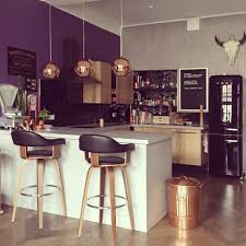 Purple Kitchen Plum And Copper Bar Pinterest Copper Living Room Kitchen