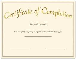 Create Free Certificate Completion Fill In The Blank Baptism