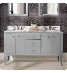 Fairmont Designs 1510 V6021da Charlottesville 60 Free Standing Double Bathroom Vanity With Three Drawers In Light Gray