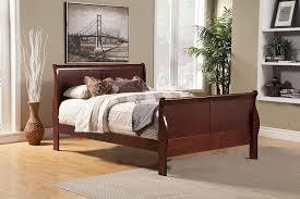 Louis Philippe Bedroom Furniture Amazoncom Alpine Furniture Louis Philippe Ii Sleigh Bed Home
