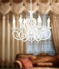 white foyer pendant lighting candle. Free Shipping Pendant Lights Rustic White Candle Iron 3 5 6 Lamps Foyer Light Restaurant Dining Lamp-in From Lighting T