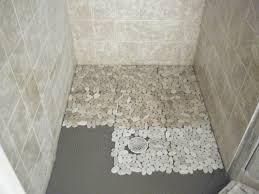 install pebble tile shower floor